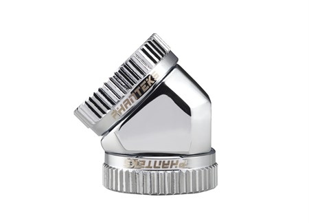 Phanteks 16mm Hard Tube Adapter 45° - Chrome