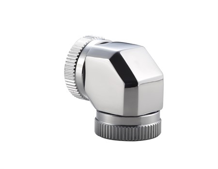 Phanteks 12mm Hard Tube Adapter 90° - Chrome
