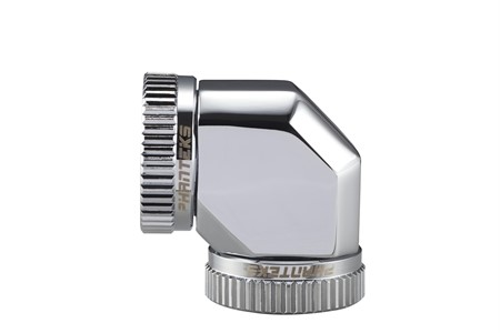 Phanteks 16mm Hard Tube Adapter 90° - Chrome