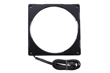 Phanteks Halos Lux 140mm Digital LED Fan Frame, Alum. Black.